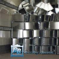 Отвод 45°- 90° прямоугольный из оцинкованной стали